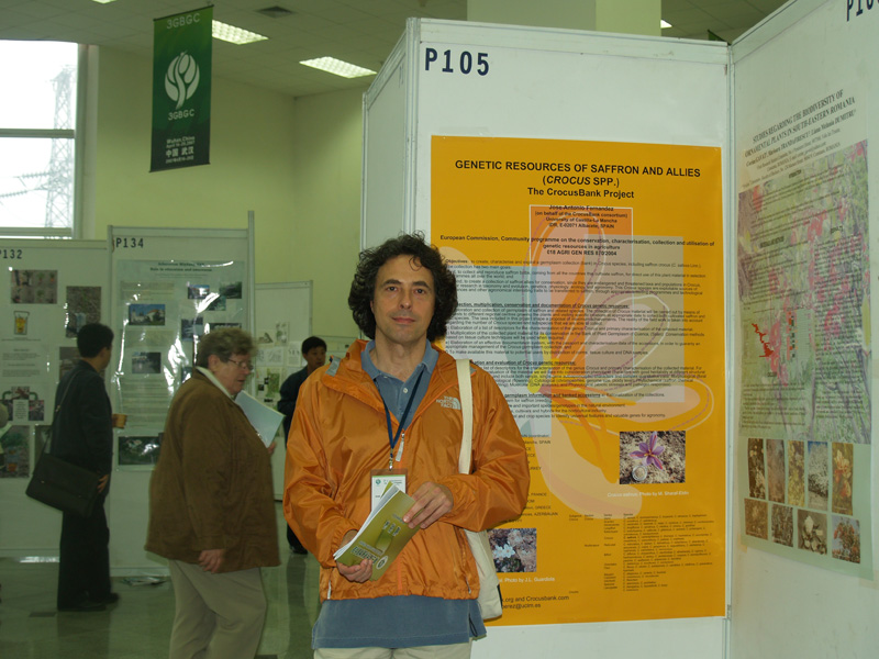 Prof. Jose A. Fernandez with poster
