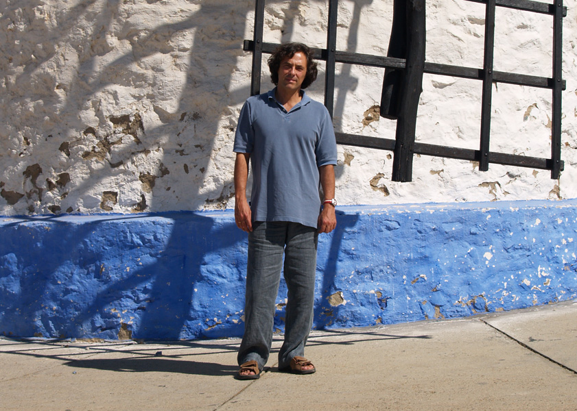 A wind-mill in Consuegra, with the author