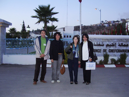 : From left to rigth : Prof. J.A. Fernández, Dr. M. Lage, Miss Hamida Hilalie and Dr. Rkia Moutiq (INRA, Rabat)